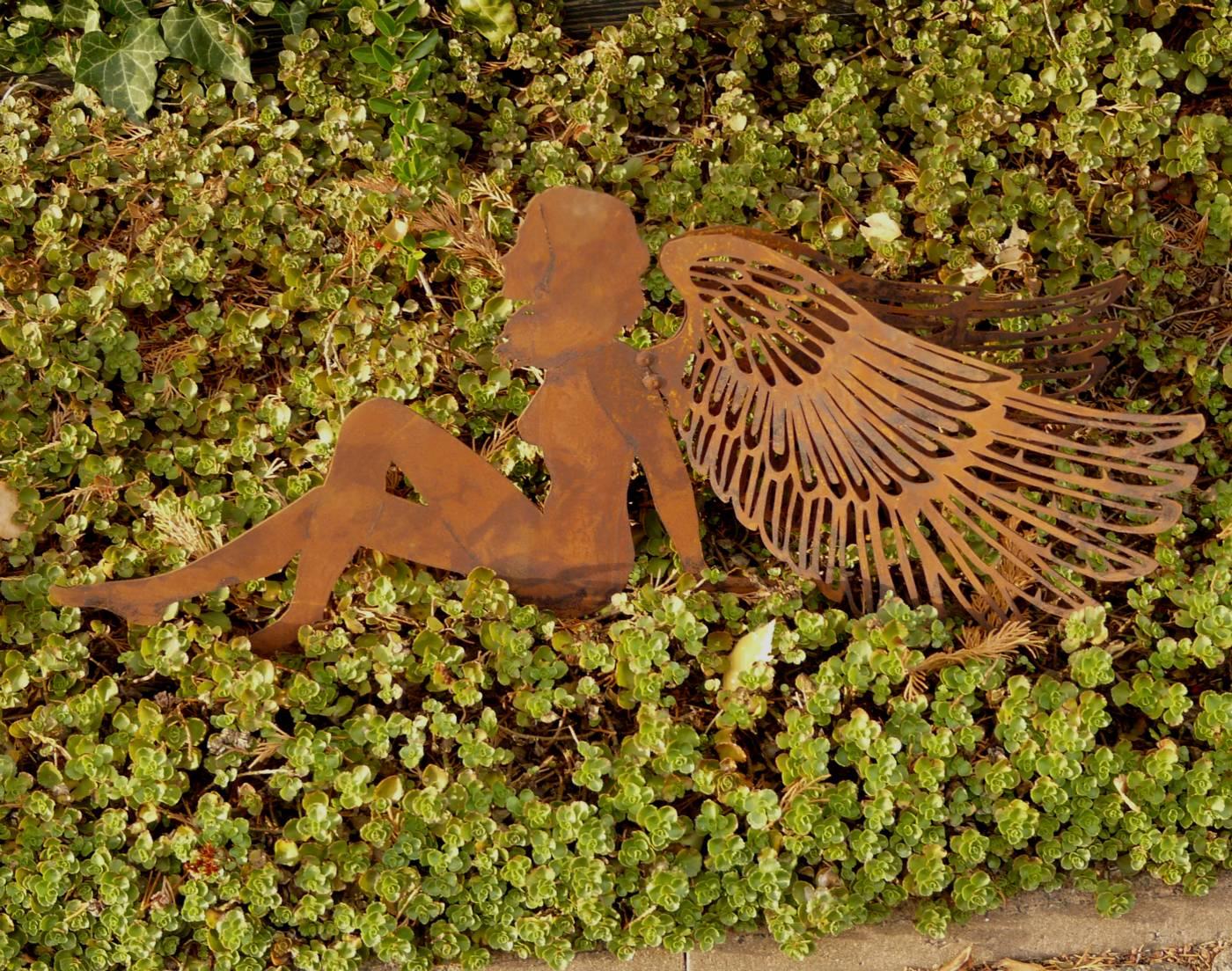 Engel rost metall edelrost l nge 60 cm gartendeko skupltur for Gartendeko engel rost