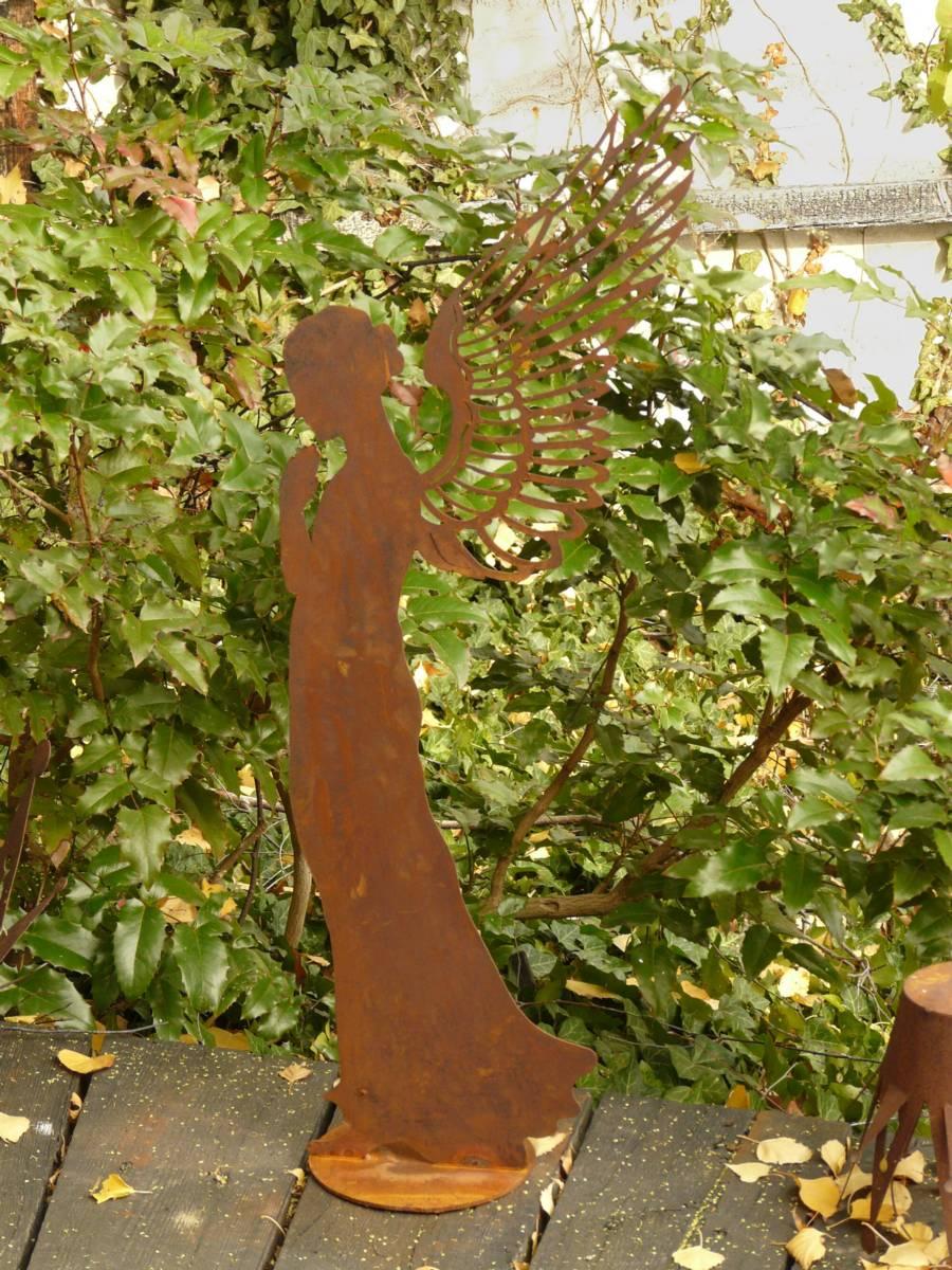 Engel santin rost metall eisen edelrost 70 cm gartenfigur for Metall gartenfiguren