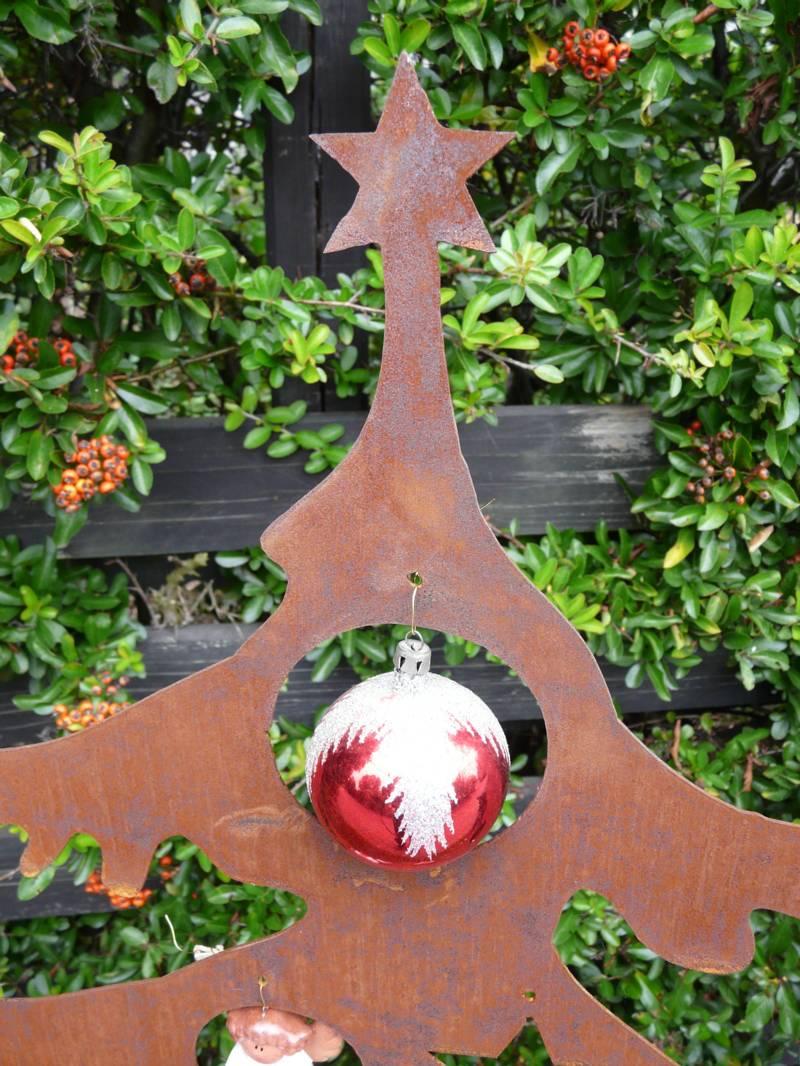 weihnachtsbaum metall edelrost rost 120cm deko tanne tannenbaum ebay. Black Bedroom Furniture Sets. Home Design Ideas