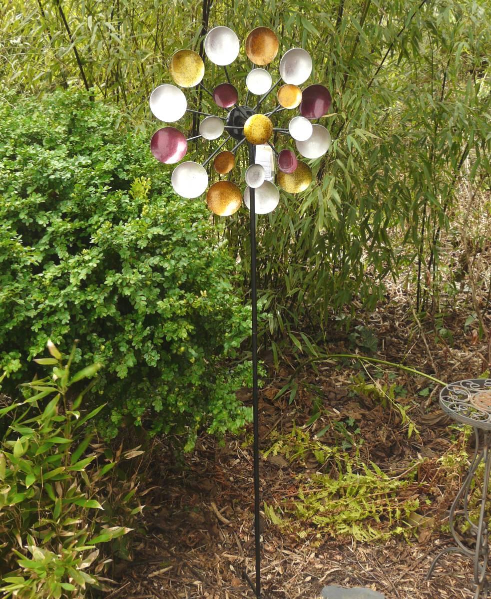 windrad regenbogen gartenstecker metall windspiel h he 178 cm d ca 48 cm ebay. Black Bedroom Furniture Sets. Home Design Ideas