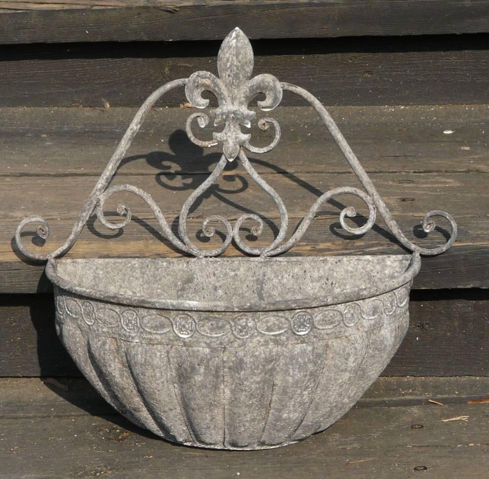 Pflanztopf wandschale gartendeko blumentopf antik vintage for Gartendeko gusseisen rostig