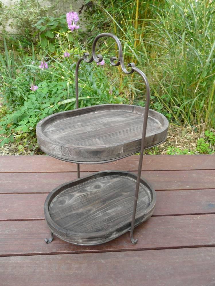 etagere holz metall vintage look die neueste innovation. Black Bedroom Furniture Sets. Home Design Ideas