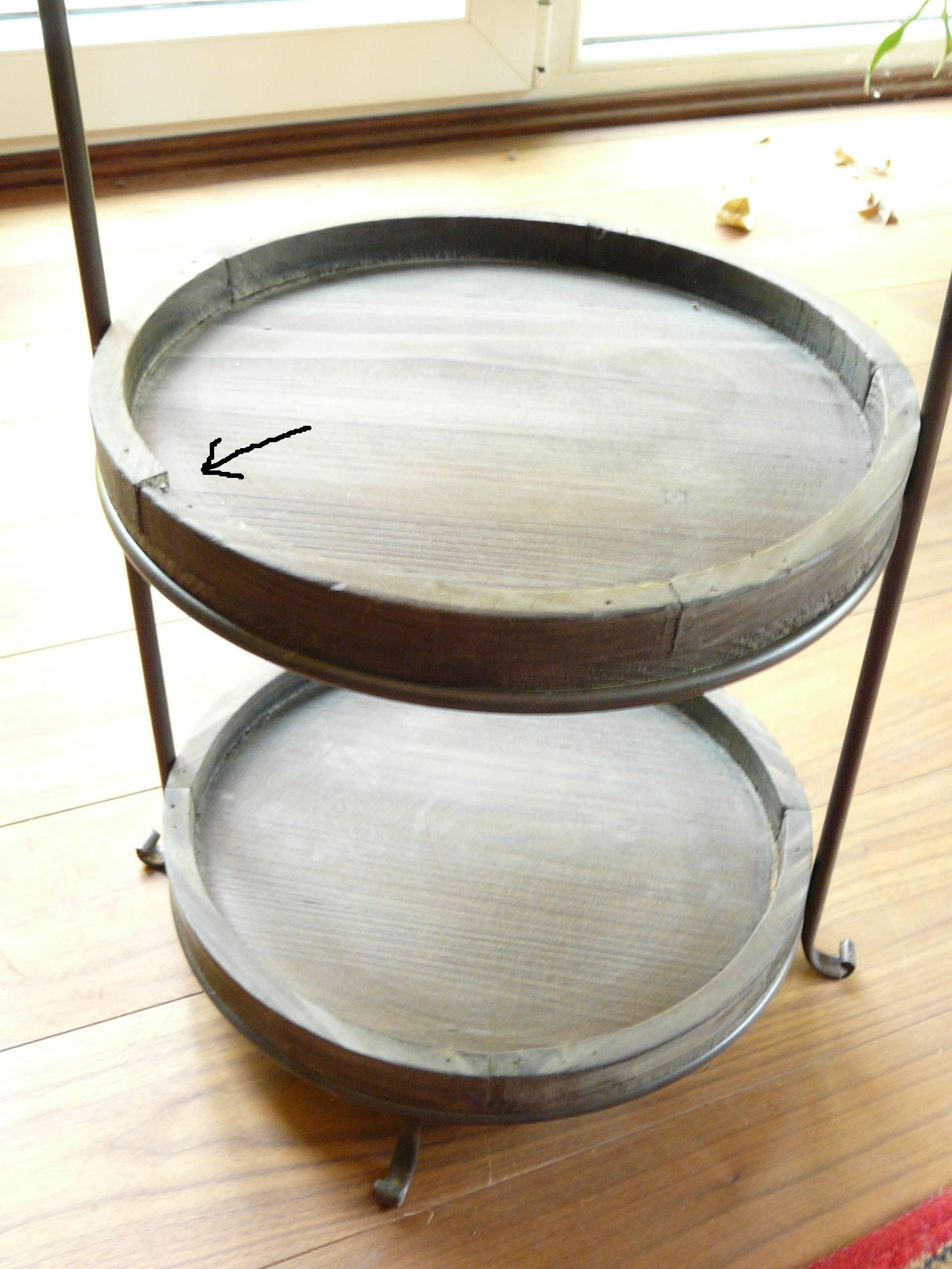 Etagere Aus Holz Und Metall ~ Details zu Etagere Holz Metall Vintage Look braun groß B Ware