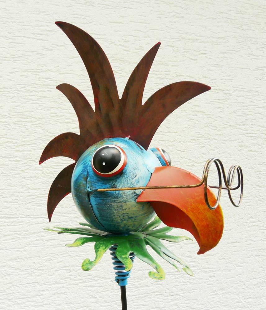 Gartenstecker blumenstecker vogel papagei beetstecker for Gartenstecker metall