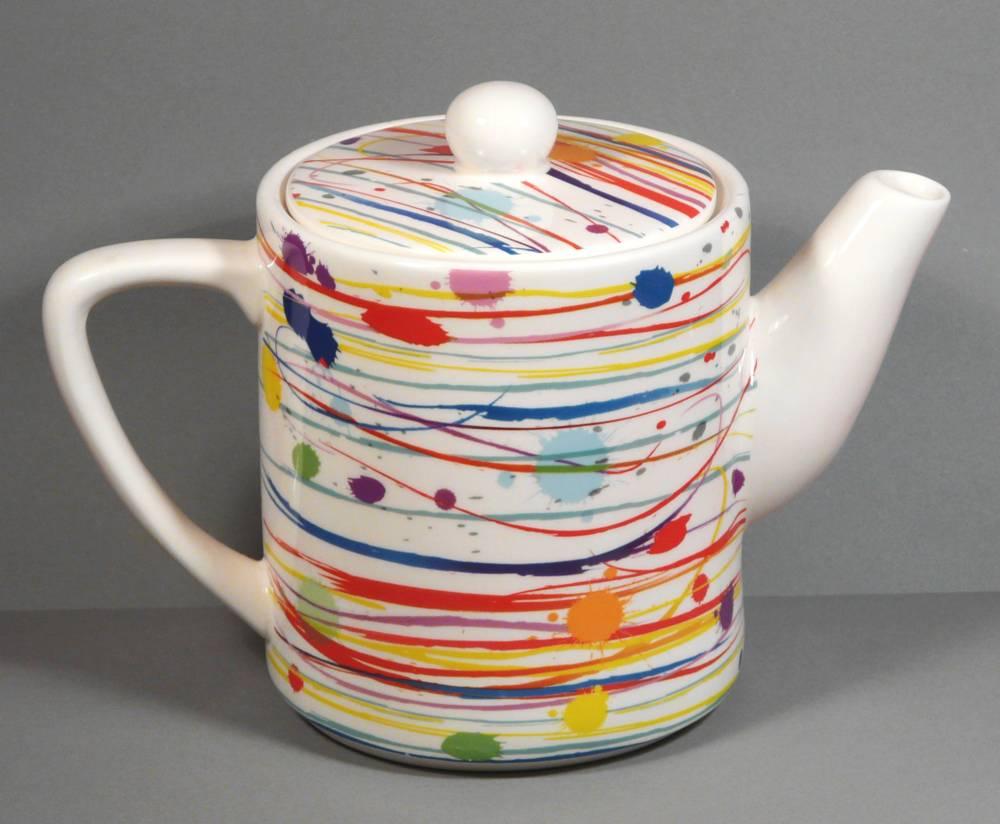 kaffeekanne teekanne kanne jameson tailor 1 7 liter keramik design farbstreifen. Black Bedroom Furniture Sets. Home Design Ideas