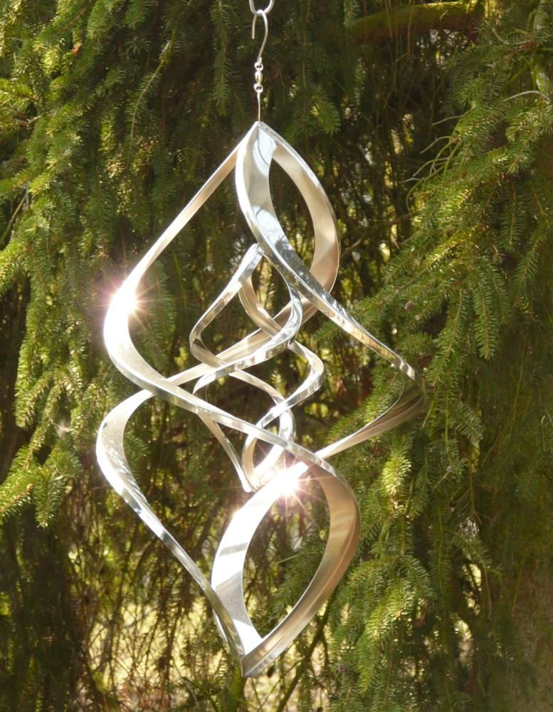 windspiel edelstahl doppelt spirale 46 cm ebay. Black Bedroom Furniture Sets. Home Design Ideas