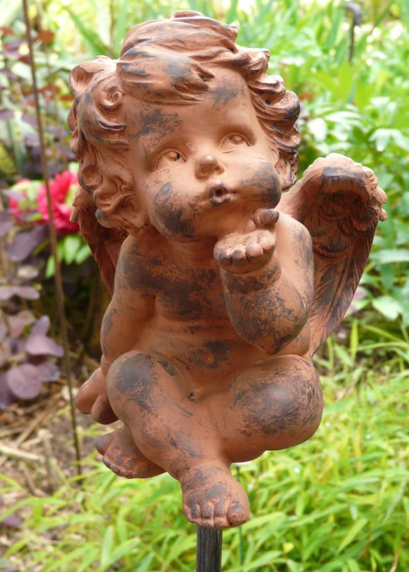 Engel murjel pflanzenstecker gartenstecker gartendeko r ebay for Gartendeko engel rost